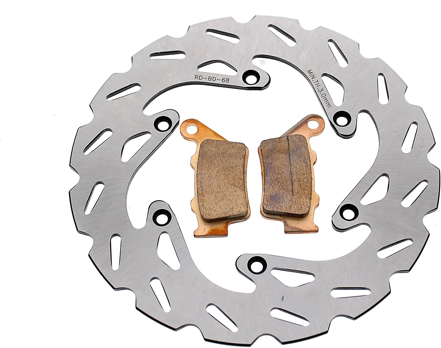 Rear RipTide Brake Rotor Discs and Brake Pads fits 1998-2003 fits KTM 300 EXC