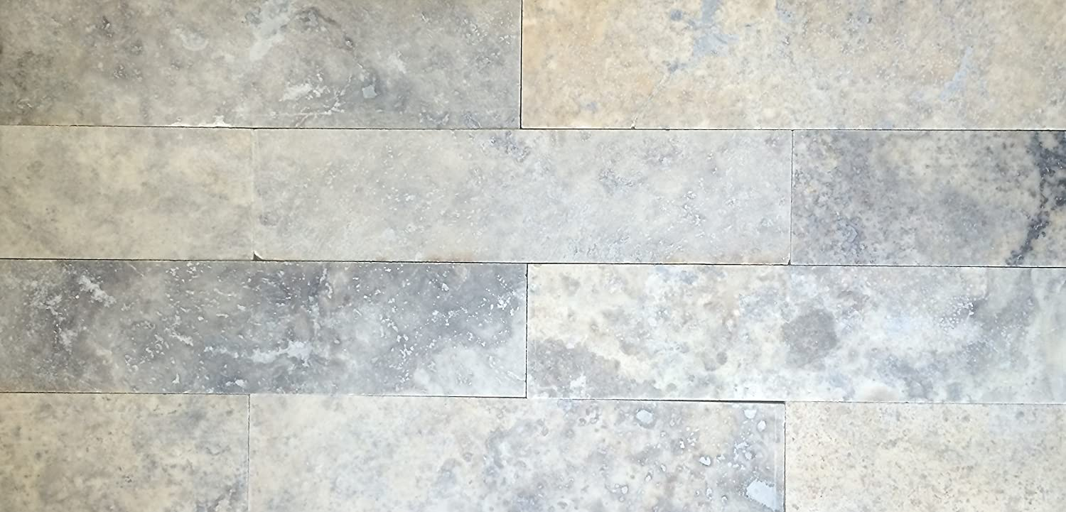 - Amazon.com : Gray Travertine 2x8 Honed Filled Straight Edge Tile