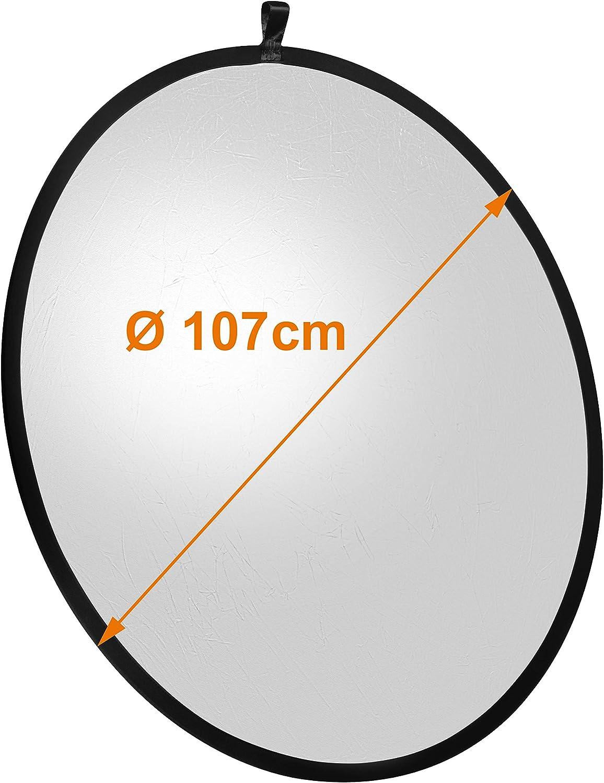 Color Plateado//Blanco 107 cm Walimex Reflector Plegable