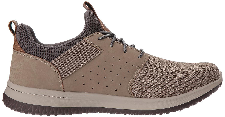 Skechers Herren Delson- Camben Sneaker (Taupe Mesh W/Synthetic Tpe)