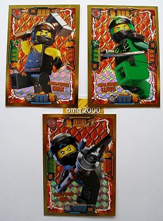 Ninjago Serie 4 Lego 3 Tarjetas de Oro Limitado, LE 2 Mega ...