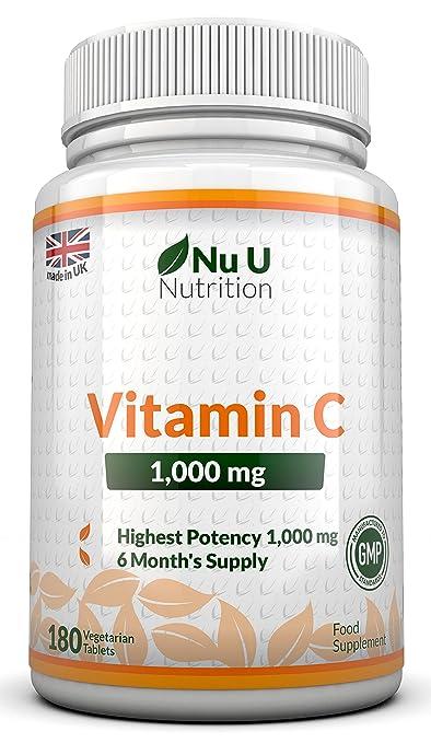 297 opinioni per Vitamina C da 1000 mg- 180 compresse (Fornitura Per 6 Mesi)- Integratori