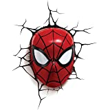 3DLightFX 816733002224 Marvel Spiderman Mask 3D Deco Light,Red