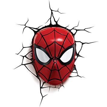 3d Light Fx Plastic Spider Man Mask Red Amazon In Toys Games