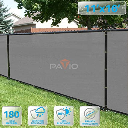PATIO Fence Privacy Screen 11' x 16', Pergola Shade Cover Canopy Sun Block - Amazon.com : PATIO Fence Privacy Screen 11' X 16', Pergola Shade