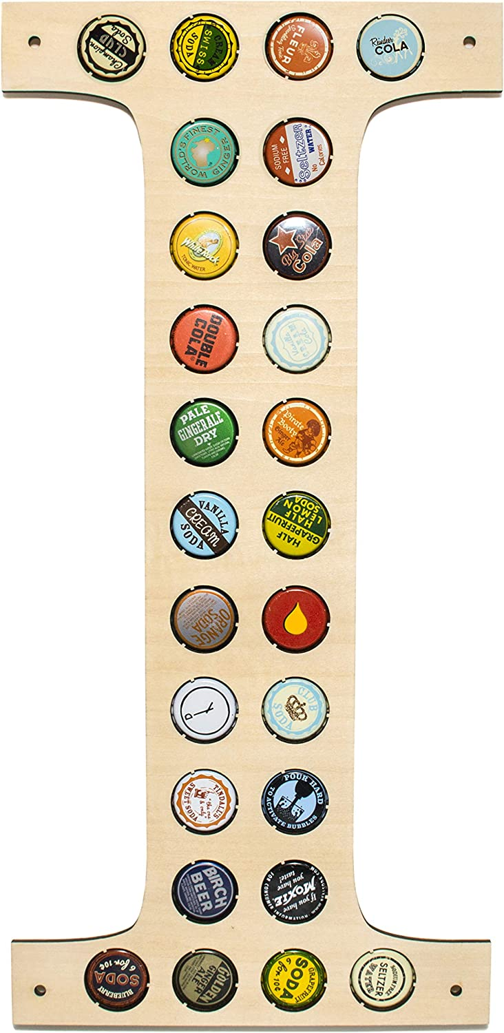 Themed Collection Display Funny Beer Related Present Monogram Letter W Wall Decor Art for Craft Beer Lovers Beer Cap Holder Map Cool Gift for Bottle Cap Collector Beer Gifts for Men /& Women