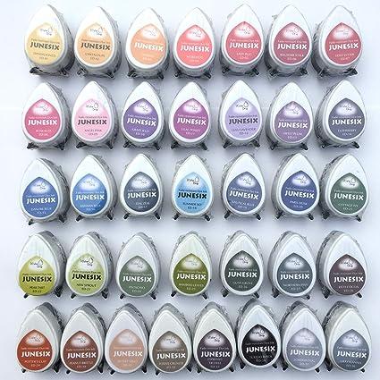 Tsukineko Memento Dew Drop Rubber Stamp Ink Pads 36 Dye