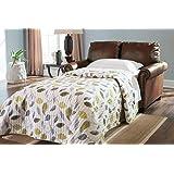 Ashley Furniture Signature Design - Lottie Sleeper Sofa Love Seat - Twin Size - Chocolate