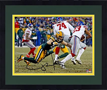 5b760ba84 Image Unavailable. Image not available for. Color  Framed Clay Matthews  Green Bay Packers Autographed ...