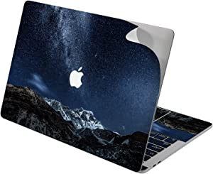 "Cavka Vinyl Decal Skin for Apple MacBook Pro 13"" 2019 15"" 2018 Air 13"" 2020 Retina 2015 Mac 11"" Mac 12"" Snowy Design Laptop Cover Skies Mountain Range Sticker Night Milky Way Print Starry Protective"
