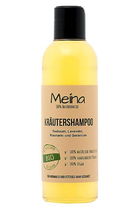meina Natural – Natural Champú – Hierbas cosmético con té algodón Romero Y LAVANDA (1