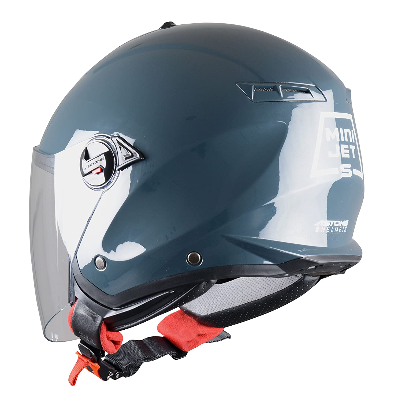 MINIJET S monocolor Casque compact Casque jet usage urbain Casque jet Astone Helmets Coque en polycarbonate Black Matt