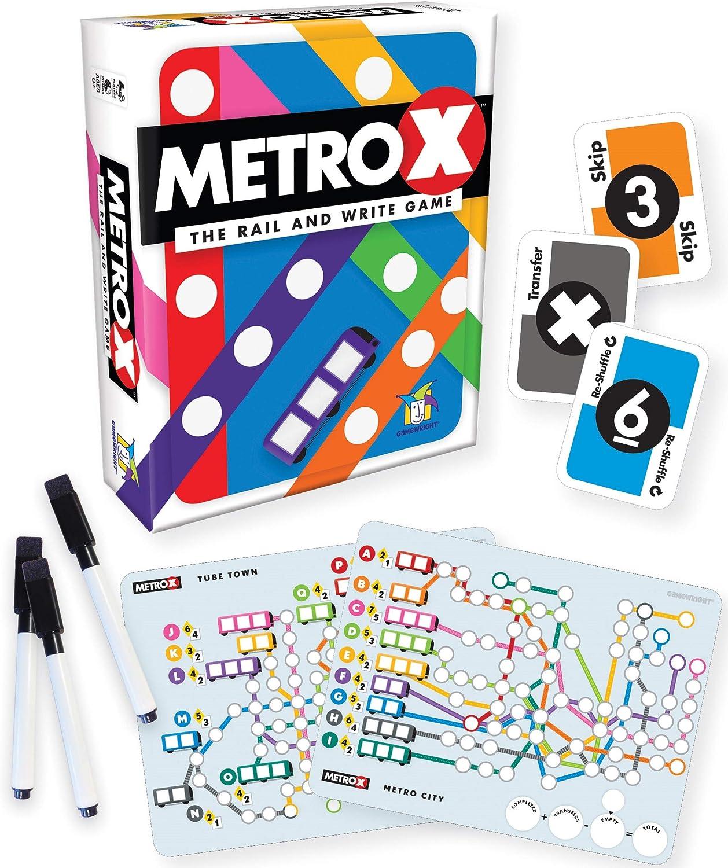 Amazon.com: Gamewright Metro X - El Rail & Escribir Juego: Toys & Games