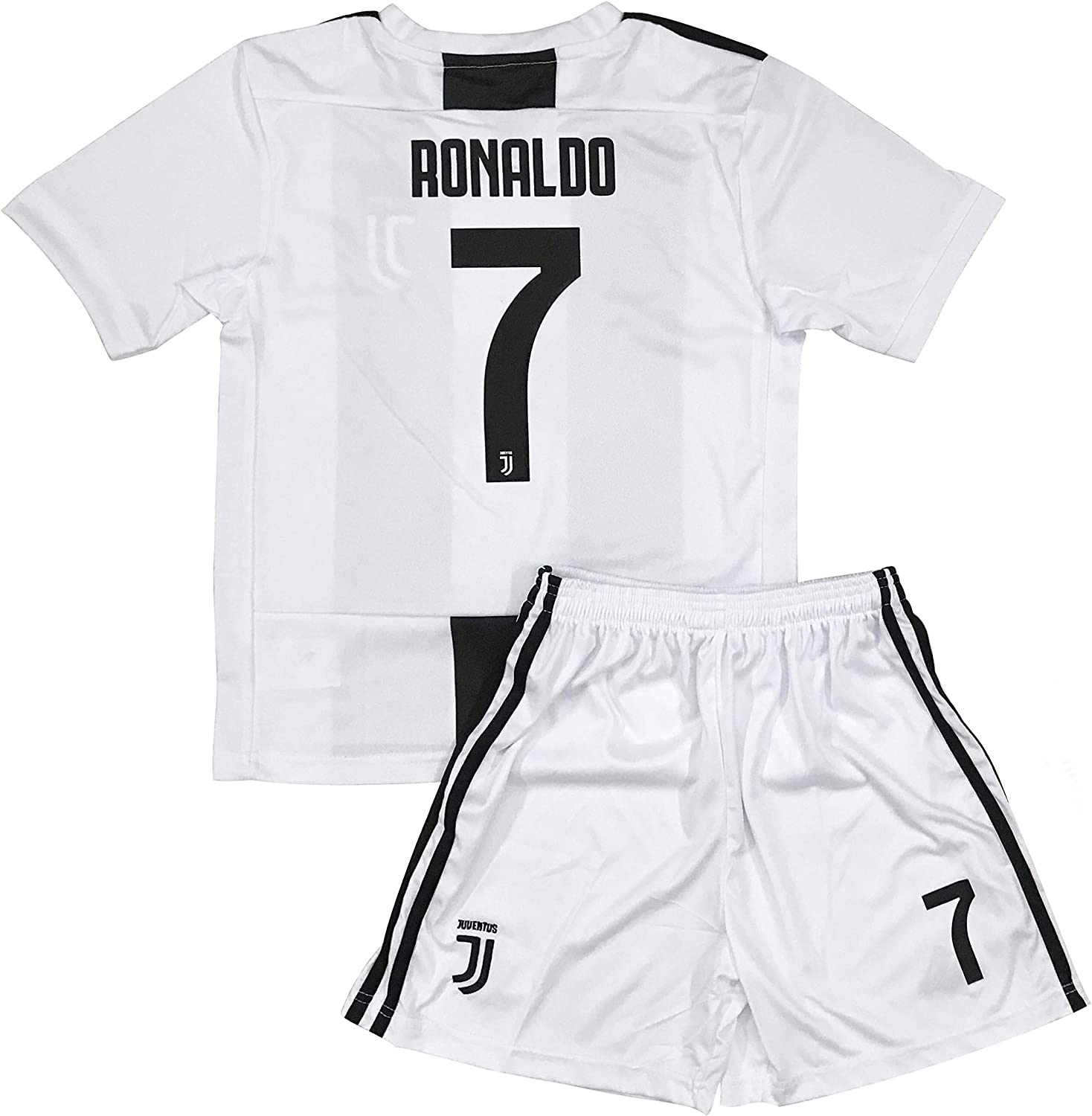 Zoylie New #7 Cristiano Ronaldo Kids/Youth Home Soccer Jersey & Shorts