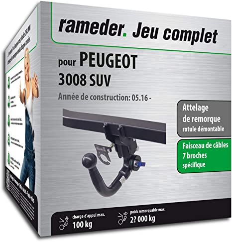 Acople extraíble para Peugeot 3008 SUV + haz 7 pines (141818 – 36935 – 1