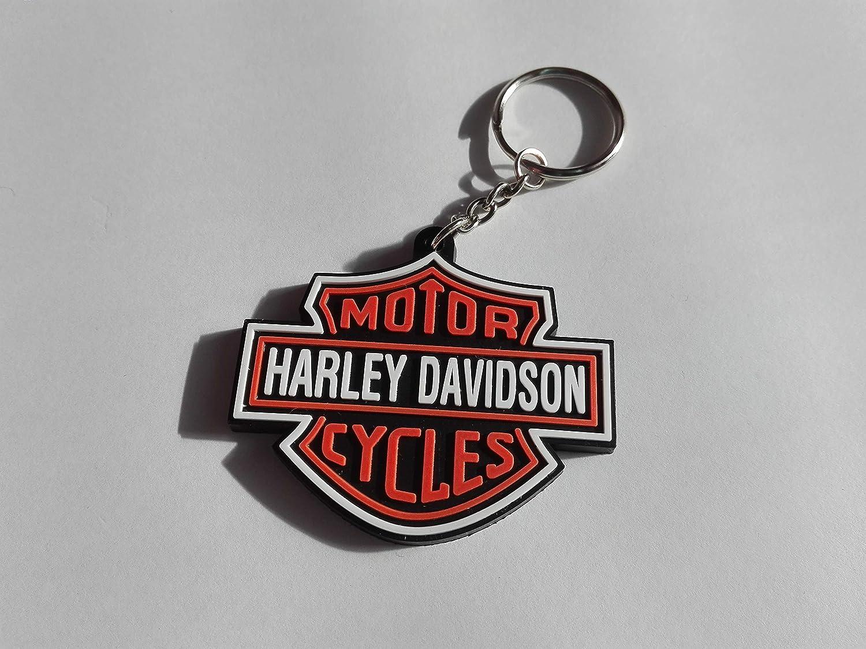 Harley Davidson - Llavero de caucho antiarañazos para moto