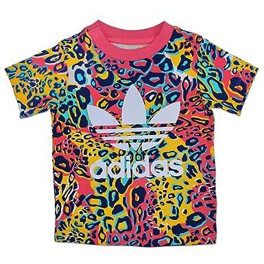 a0110a68 adidas Originals Trefoil Children Leopard Girls Colourful multicolour Baby T -Shirt - multicolour, 86