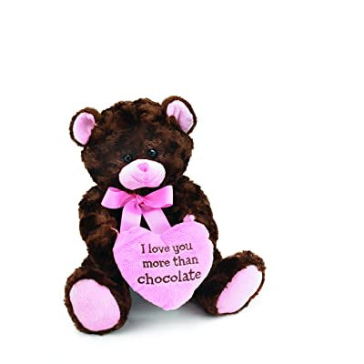 I Love you More Than Chocolate Valentines Day Heart Teddy Bear: Toys & Games
