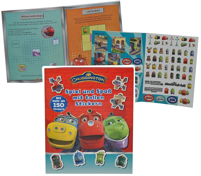 Rätsel Buch / Sticker + Bastelheft mit 150 Sticker + Rätsel ...
