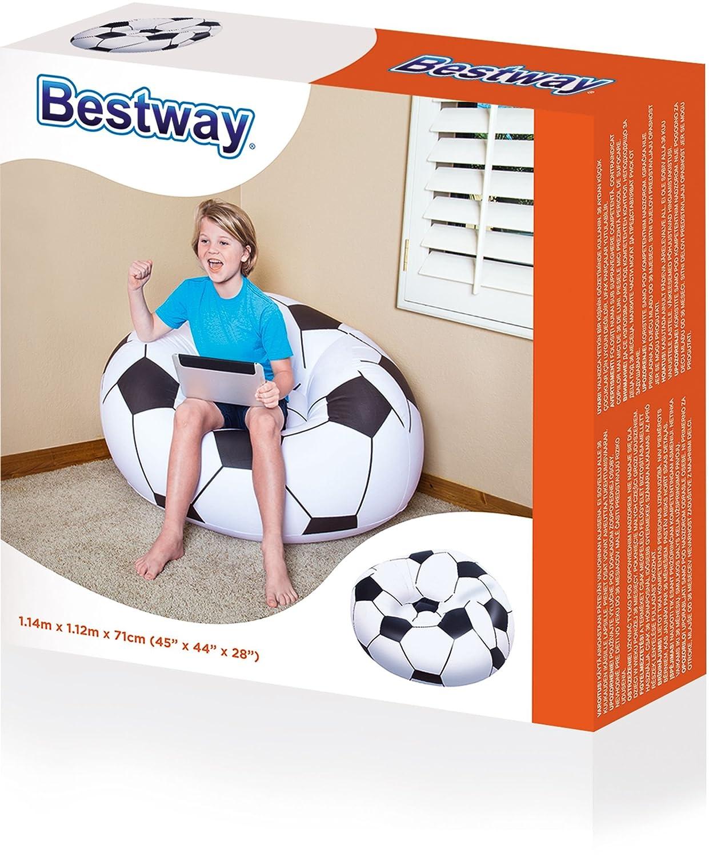 Amazon.com: Bestway 45 X 44 X 28 Inch Beanless Soccer Ball Chair: Computers  U0026 Accessories