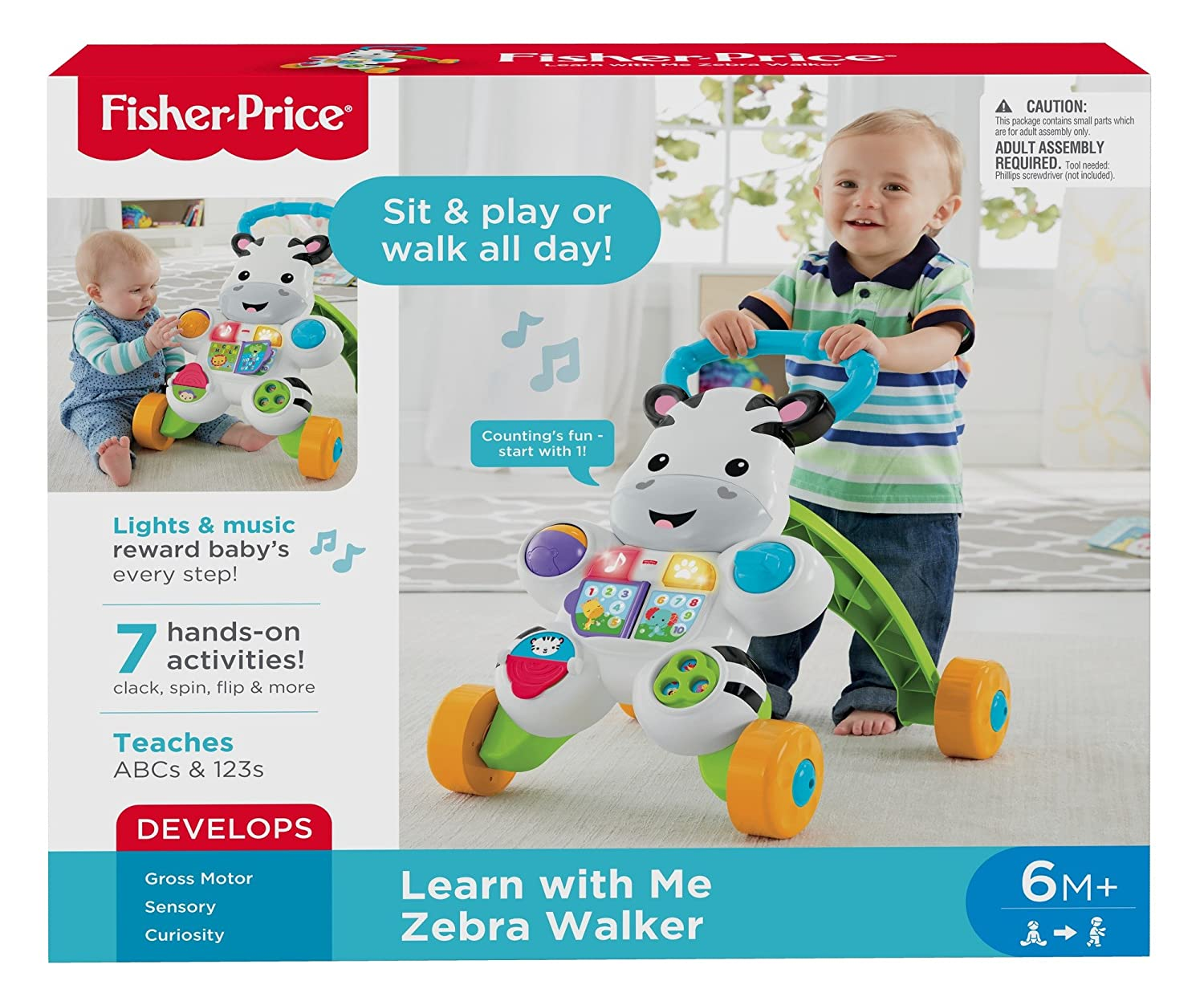 Fisher-Price-DLF00 Zebra de Juguete, Multicolor (Mattel 900 DLF00 ...