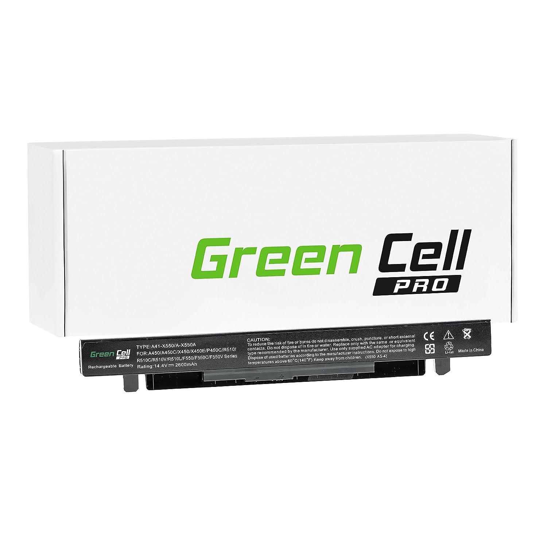 Green Cell® PRO Serie Batería para ASUS F552L Ordenador (Las Celdas Originales Samsung SDI, 4 Celdas, 2600mAh, Negro)