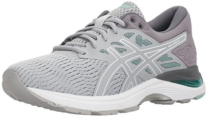ASICS Gel-Flux 5 Mid Grey/White/Opal Green Women's Running Shoes