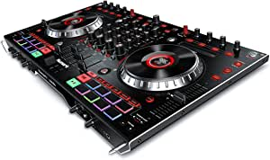 Numark NS6II   4-Channel DJ Controller For Serato DJ (Included) With Dual USB Ports For Handoffs, 2-Inch Colour LCD Displays, Standalone Digital Mixer, 6-Inch Jog Wheels and MPC Performance Pads