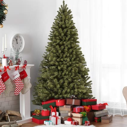 best choice products 75ft premium spruce hinged artificial christmas tree w easy assembly - Green Christmas Decorations