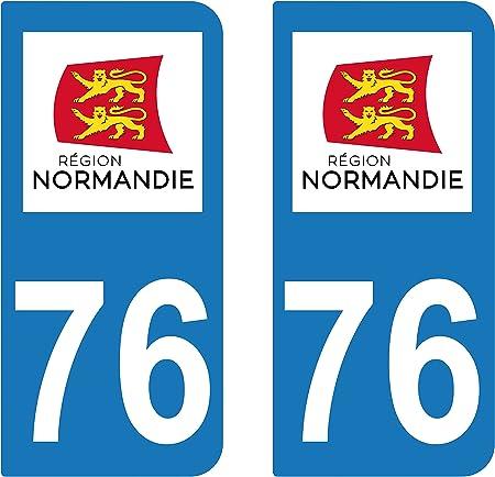Supstick 2 Sticker Selbstklebend Nummernschild Dept 76 Normandie Auto
