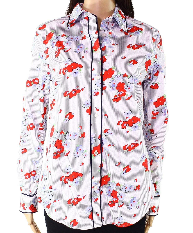 Ralph Lauren Womens Floral Button Up Shirt Multi 2Xl