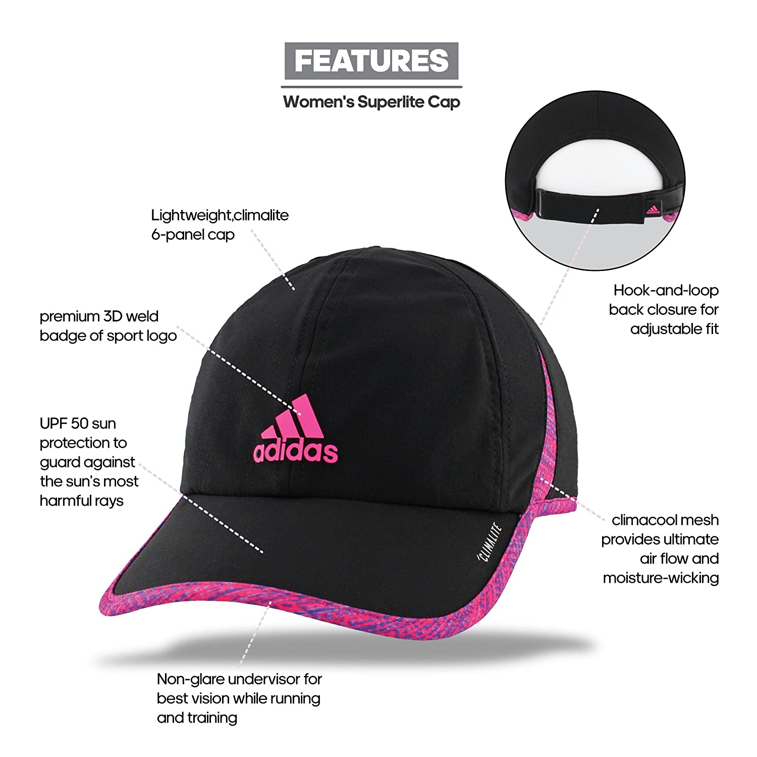 adidas Womens Superlite Relaxed Adjustable Performance Cap Agron Hats     Accessories 976611 ddf9d3d9b3ec