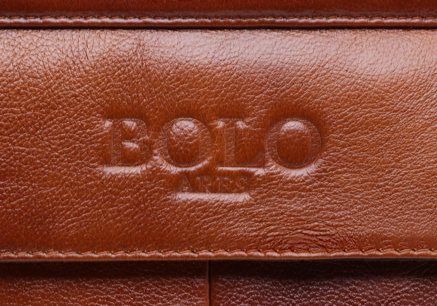 Bolo 13 14 Pouces Porte-Documents pour Ordinateur Portable Fait Main Cuir Mallette /Épaule daffaires Sac daffaires Jaune-BP