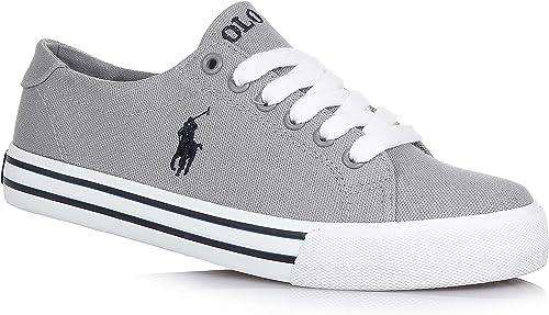 Polo Ralph Lauren - Zapatos de cordones para niño, color gris, talla ...