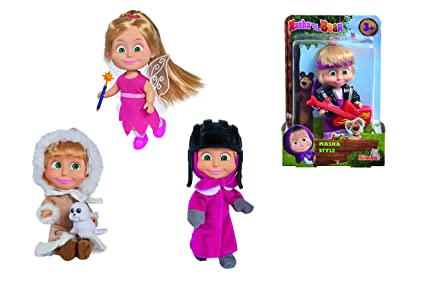 Amazon.com: Masha y el Oso Masha muñeca: Toys & Games