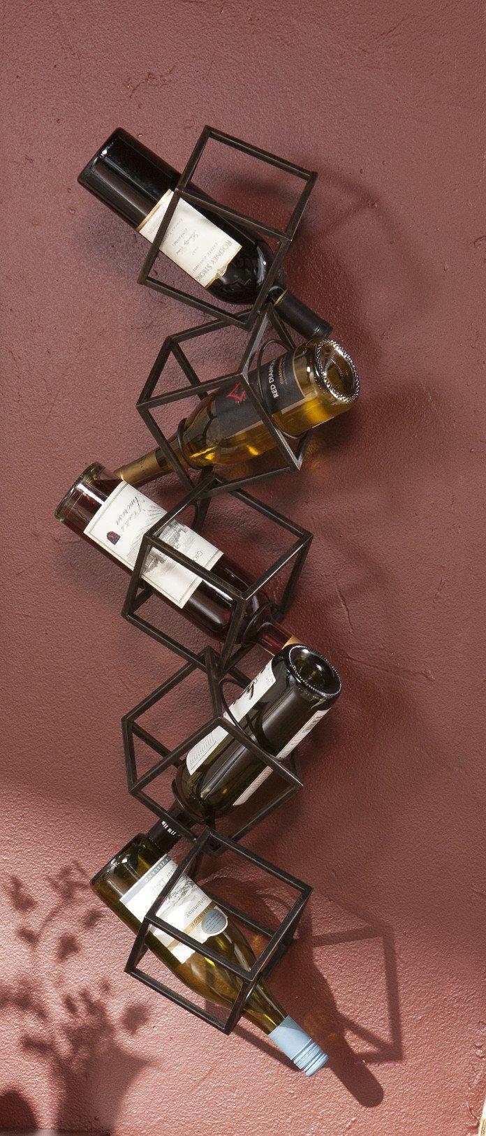 Carini 5 Bottle Wall Mounted Wine Rack
