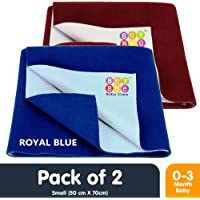 Bey Bee {Premium} Waterproof Mattress Protector/Gift Pack Baby Care Sheets (2-Small Combo, Royal/Maroon)