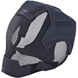 Outgeek Airsoft Mask Full Face Mask War Game Steel Mesh Protective Mask