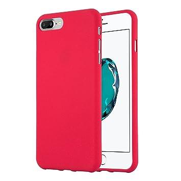 Cadorabo Apple iPhone 8 Plus / 7 Plus / 7S Plus Funda de Silicona TPU Frost en Frost Rojo – Cubierta Protectora Super Delgada e Flexible con ...