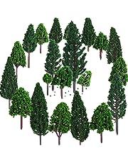 Bememo 22 Piezas de Modelo de Árbol 3 - 16 cm de Árboles de Modelo Mezclados