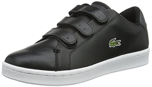 Lacoste Mens Camden New Cup S216 1 SPM Black White Leather Trainers 7.5 US