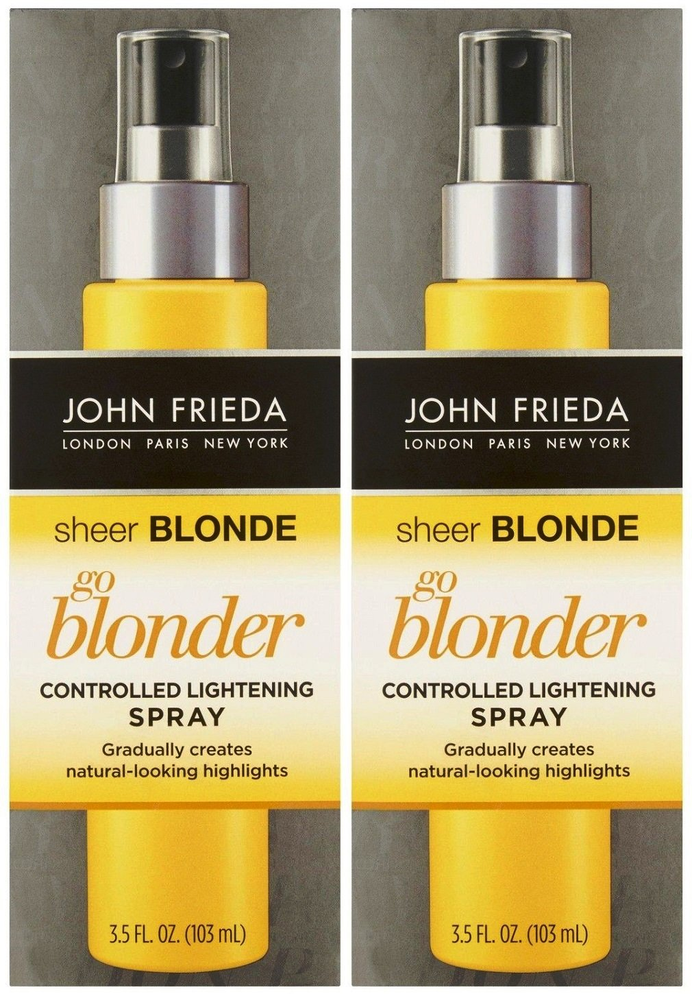 John Frieda Sheer Blonde Go Blonder Controlled Lightening Spray, 3.5 oz, 2 pk