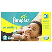 Pampers Swaddlers Disposable Diapers Size 3, 136 Count, ECONOMY