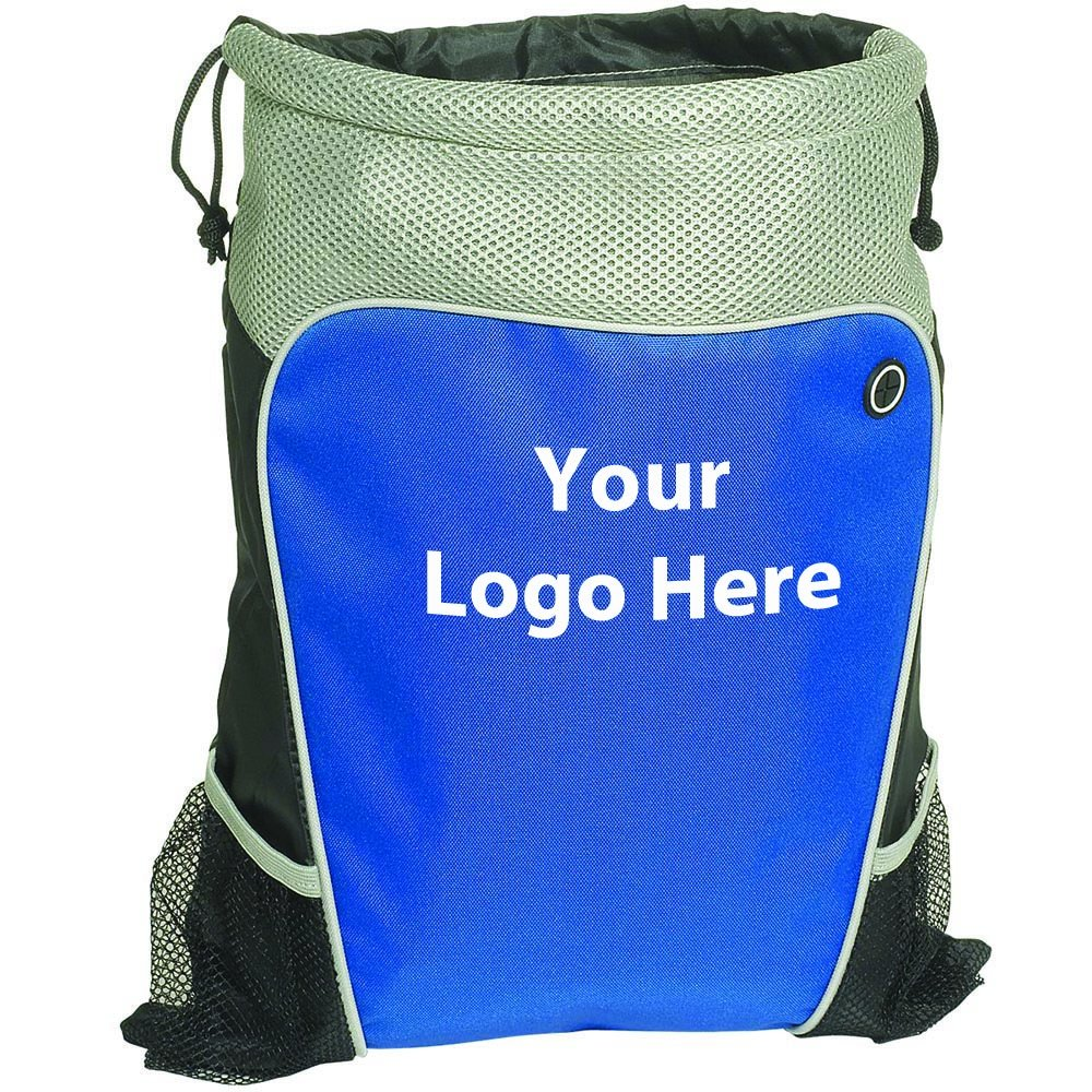 Hiker's Two Tone Drawstring Backpack - 40 Quantity - $7.09 Each - PROMOTIONAL PRODUCT / BULK / Branded with YOUR LOGO / CUSTOMIZED by Sunrise Identity