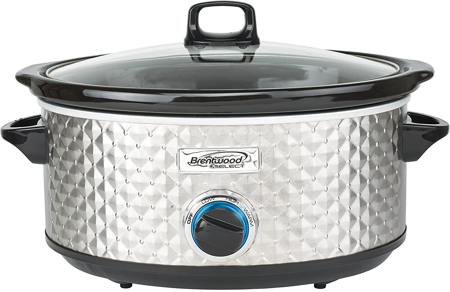 Brentwood Select SC-157S Slow Cooker, 7 Quart, Silver