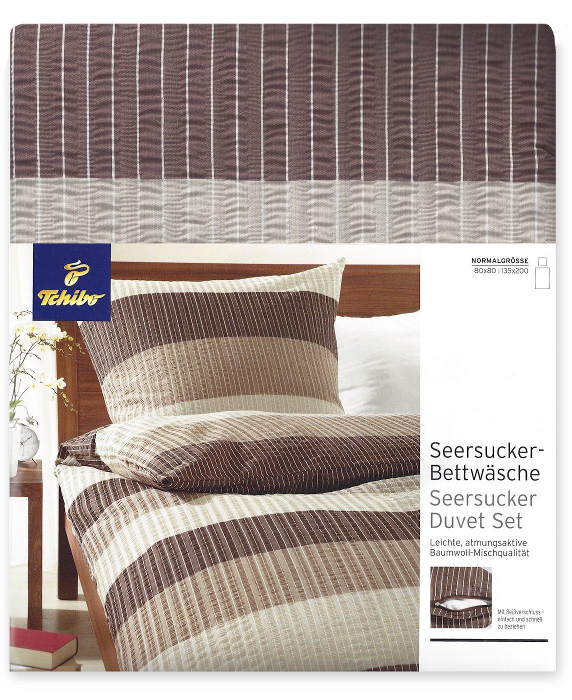 TCM Tchibo Seersucker Bettwäsche , 2tlg. Bügelfrei , 135x200 Cm,  Braun Beige: Amazon.de: Küche U0026 Haushalt Ideas