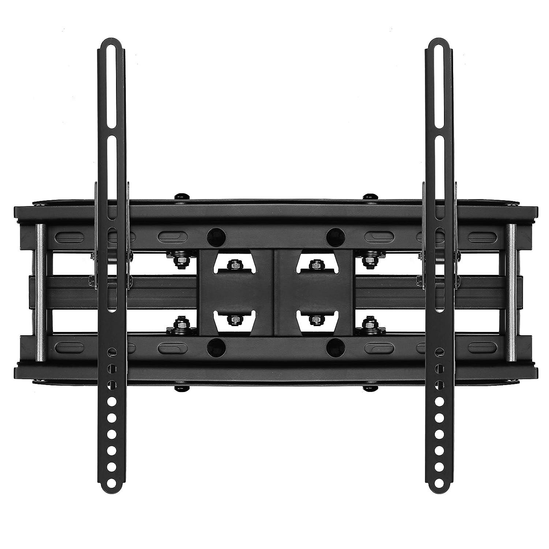 Soporte de pared para pantalla plana 74,840 kg, 81,28 cm Brazo Doble , -15-15/°, 150/°, 50,8 cm , Cheetah Mounts APDAM2B 32 65 color negro 1,651m