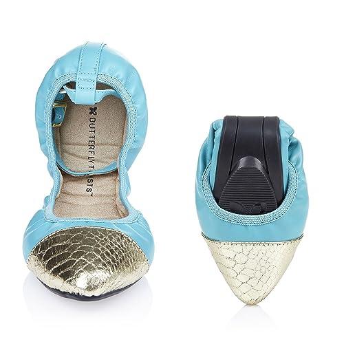 EVIE Ladies Patent Ballerina Shoes Black