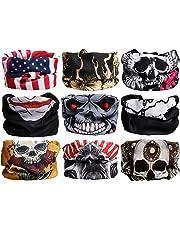 Landisun Headband 9PCS and 6PCS Multifunctional Face Mask Seamless Magic Scarf