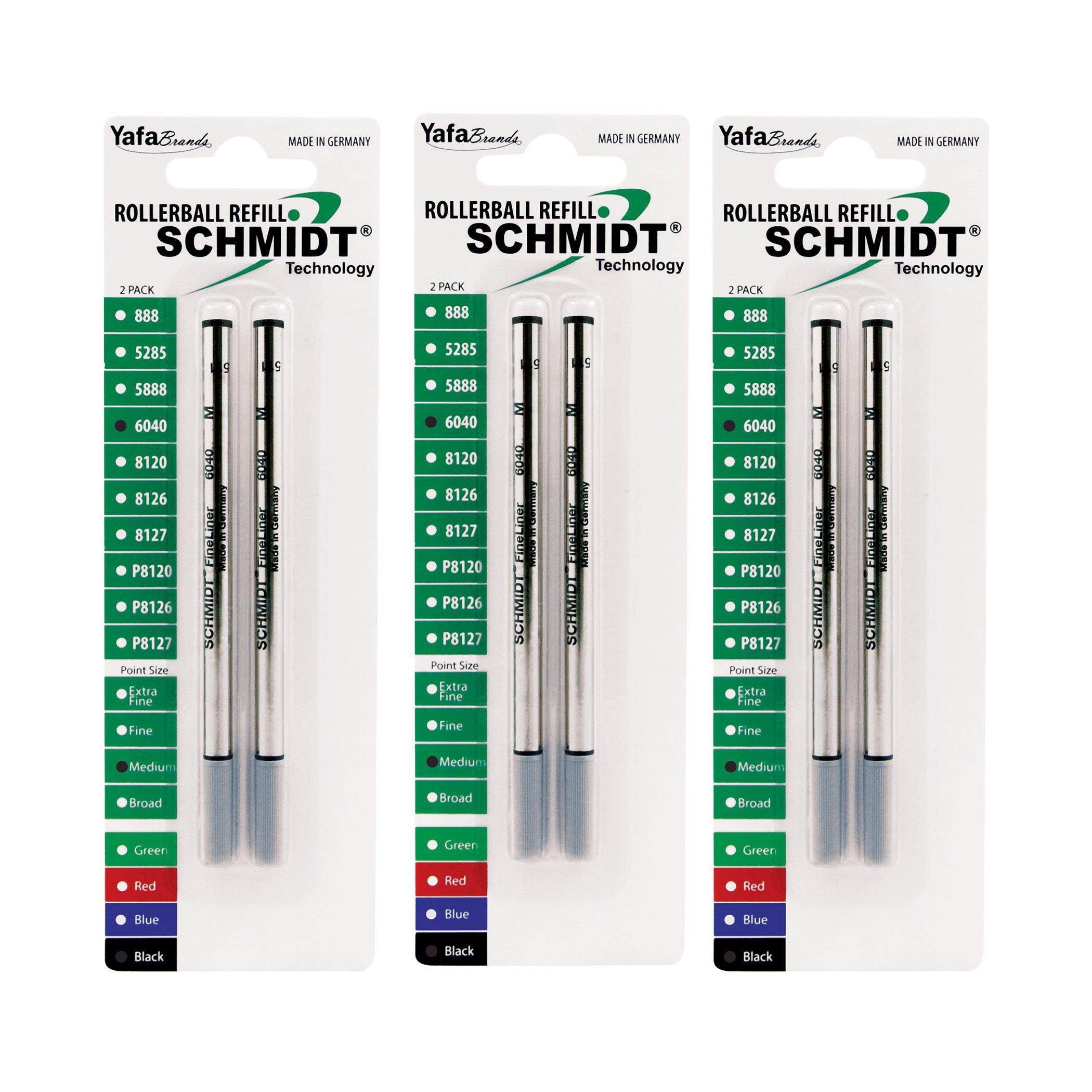Schmidt Fineliner 6040 with Spring Loaded 1.0mm Tip Black, 6 Pack Blister (SC58177)